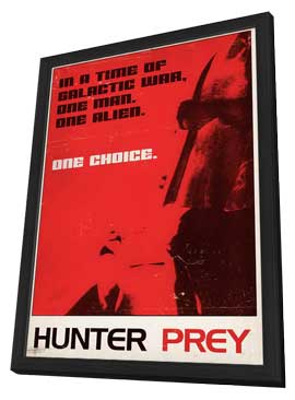 Hunter Prey - 11 x 17 Movie Poster - Style A - in Deluxe Wood Frame