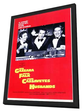 Husbands - 11 x 17 Movie Poster - Style A - in Deluxe Wood Frame