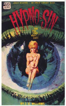 Hypno-Sin - 11 x 17 Retro Book Cover Poster
