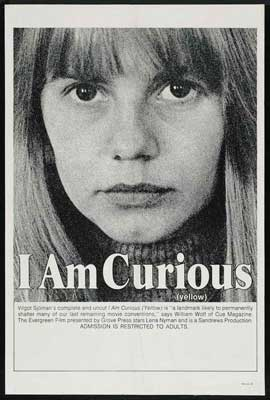 I Am Curious (Yellow) - 27 x 40 Movie Poster - Style B