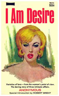 I Am Desire - 11 x 17 Retro Book Cover Poster