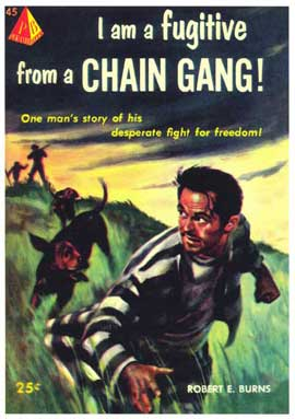 I Am From a Chain Gang! - 11 x 17 Retro Book Cover Poster