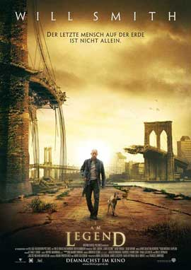 I Am Legend - 11 x 17 Movie Poster - German Style A