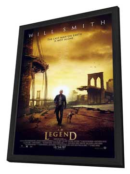 I Am Legend - 27 x 40 Movie Poster - Style B - in Deluxe Wood Frame