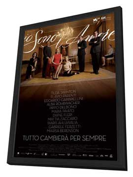I Am Love - 27 x 40 Movie Poster - Italian Style A - in Deluxe Wood Frame