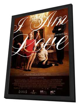 I Am Love - 27 x 40 Movie Poster - Style A - in Deluxe Wood Frame