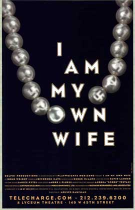 I Am My Own Wife (stage play) - 27 x 40 Poster - Style A
