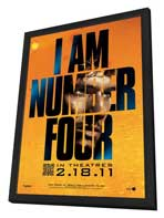 I Am Number Four - 11 x 17 Movie Poster - Style A - in Deluxe Wood Frame