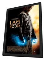 I Am Number Four - 27 x 40 Movie Poster - Style B - in Deluxe Wood Frame