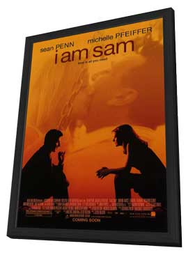 I Am Sam - 11 x 17 Movie Poster - Style A - in Deluxe Wood Frame