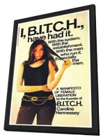 I Bitch, Have Had It - 11 x 17 Retro Book Cover Poster - in Deluxe Wood Frame