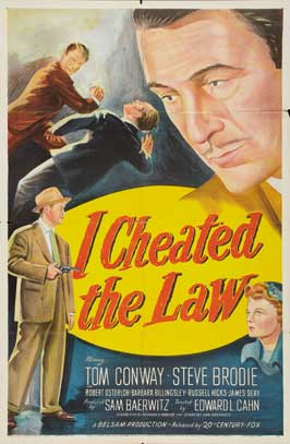 I Cheated the Law - 27 x 40 Movie Poster - Style A