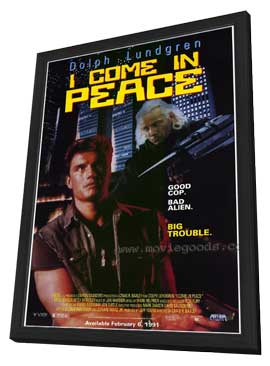 I Come in Peace - 11 x 17 Movie Poster - Style B - in Deluxe Wood Frame