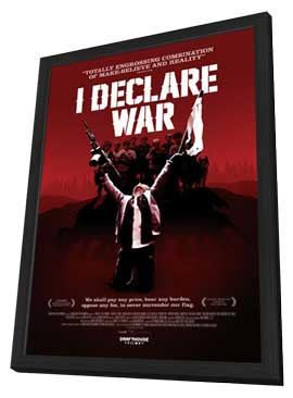 I Declare War - 11 x 17 Movie Poster - Canadian Style A - in Deluxe Wood Frame