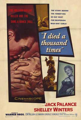 I Died a Thousand Times - 27 x 40 Movie Poster - Style A