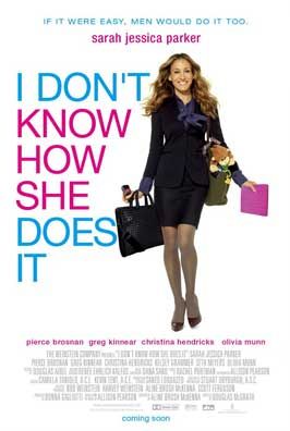 I Don't Know How She Does It - 11 x 17 Movie Poster - UK Style A