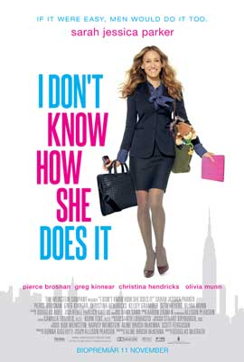 I Don't Know How She Does It - 11 x 17 Movie Poster - Swedish Style A