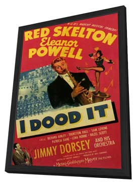 I Dood It - 11 x 17 Movie Poster - Style A - in Deluxe Wood Frame