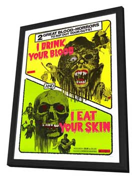 I Drink Your Blood - 27 x 40 Movie Poster - Style A - in Deluxe Wood Frame