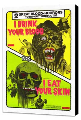I Drink Your Blood - 27 x 40 Movie Poster - Style A - Museum Wrapped Canvas