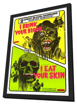 I Drink Your Blood - 11 x 17 Movie Poster - Style A - in Deluxe Wood Frame