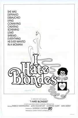 I Hate Blondes - 27 x 40 Movie Poster - Style A