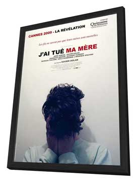 I Killed My Mother - 27 x 40 Movie Poster - French Style A - in Deluxe Wood Frame