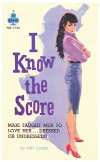 I Know the Score - 11 x 17 Retro Book Cover Poster