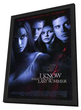I Know What You Did Last Summer - 11 x 17 Movie Poster - Style A - in Deluxe Wood Frame