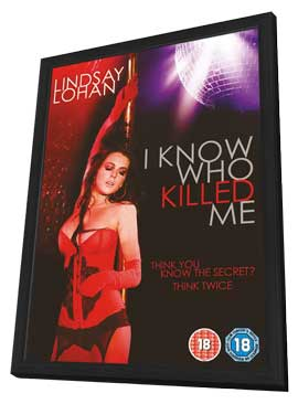 I Know Who Killed Me - 27 x 40 Movie Poster - UK Style A - in Deluxe Wood Frame