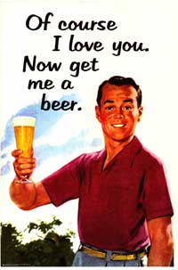 I Love You - Get Me A Beer - Party/College Poster - 24 x 36 - Style A