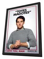I Love You, Man - 11 x 17 Movie Poster - Style G - in Deluxe Wood Frame