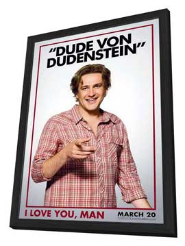 I Love You, Man - 11 x 17 Movie Poster - Style F - in Deluxe Wood Frame