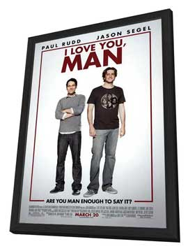 I Love You, Man - 27 x 40 Movie Poster - Style A - in Deluxe Wood Frame