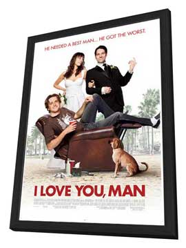 I Love You, Man - 27 x 40 Movie Poster - Style C - in Deluxe Wood Frame