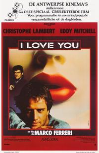 I love You - 11 x 17 Movie Poster - Belgian Style A