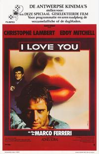 I love You - 27 x 40 Movie Poster - Belgian Style A