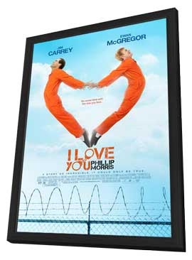 I Love You Phillip Morris - 27 x 40 Movie Poster - Style C - in Deluxe Wood Frame