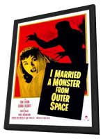 I Married A Monster From Outer Space - 11 x 17 Movie Poster - Style A - in Deluxe Wood Frame
