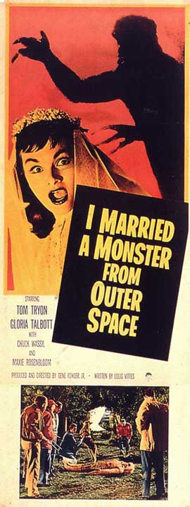I Married A Monster From Outer Space - 14 x 36 Movie Poster - Insert Style A