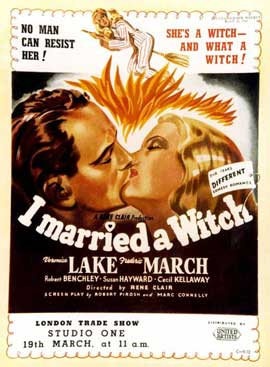 I Married a Witch - 11 x 17 Movie Poster - UK Style A