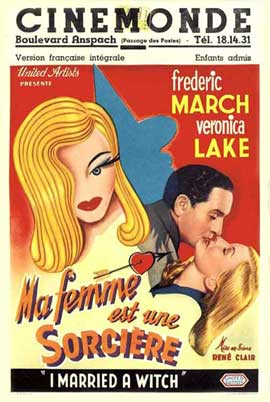 I Married a Witch - 11 x 17 Movie Poster - French Style B