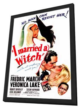 I Married a Witch - 11 x 17 Movie Poster - Style A - in Deluxe Wood Frame