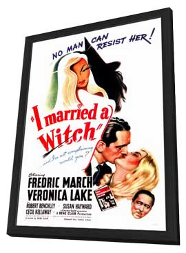 I Married a Witch - 27 x 40 Movie Poster - Style A - in Deluxe Wood Frame