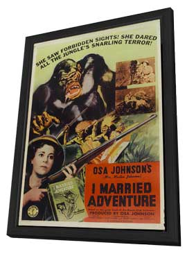 I Married Adventure - 11 x 17 Movie Poster - Style A - in Deluxe Wood Frame