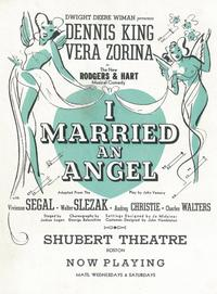 I Married An Angel (Broadway) - 11 x 17 Poster - Style A