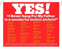 I Never Sang for My Father - 11 x 14 Movie Poster - Style A
