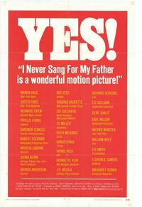 I Never Sang for My Father - 11 x 17 Movie Poster - Style B