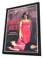 I Prefer Girls - 11 x 17 Retro Book Cover Poster - in Deluxe Wood Frame