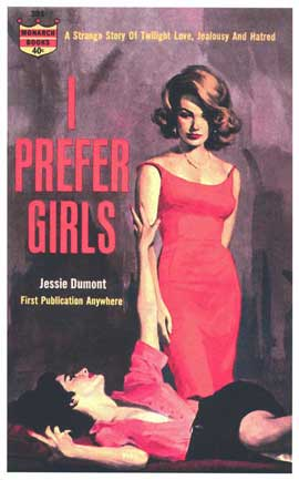 I Prefer Girls - 11 x 17 Retro Book Cover Poster